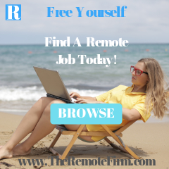Ad for remote job board. The Remote Firm